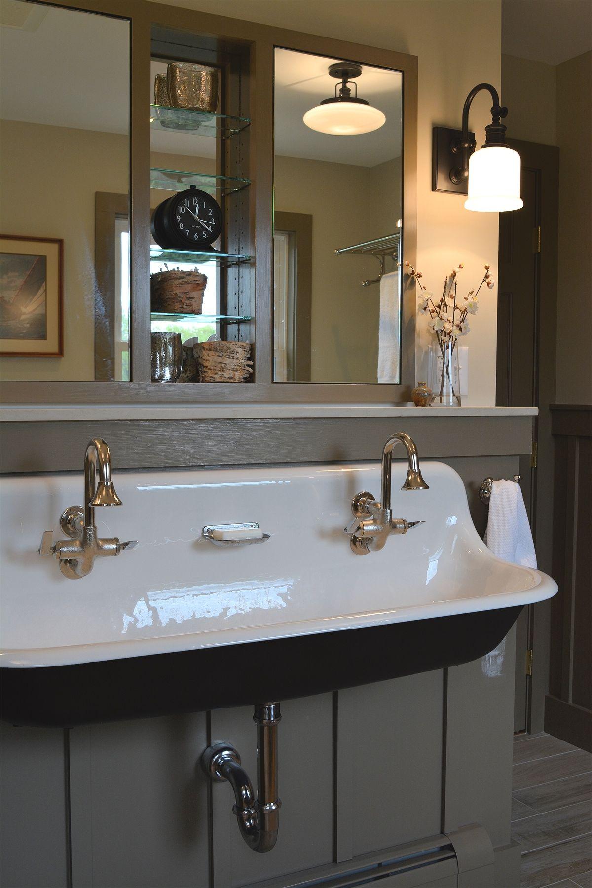 Bathroom Renovation | Trough sink, Kitchen sink design ...