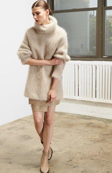 Helmut Lang Veneered Angora Blend Turtleneck Sweater - @nordstrom #nordstrom