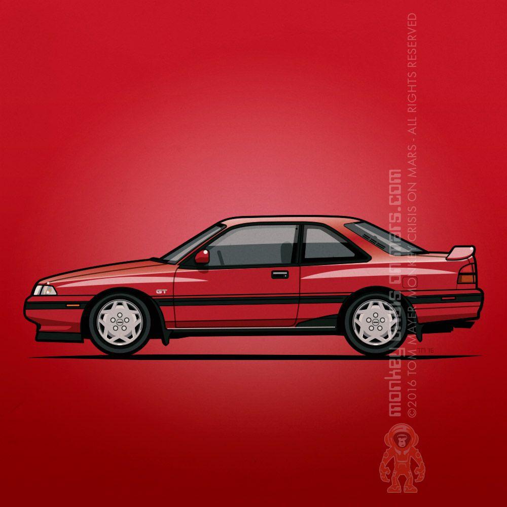 Mazda Mx6 Gt 1989 Bone Stock Cherry Red Mazda Mx 6
