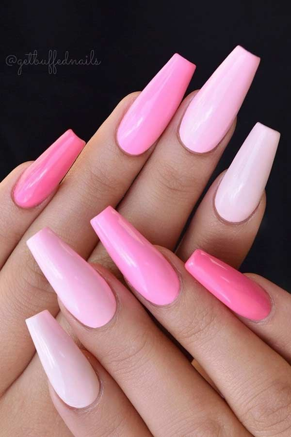 Photo of Light Pink Coffin Nail Design #coffinnails #designs #ideas #light #nail #n