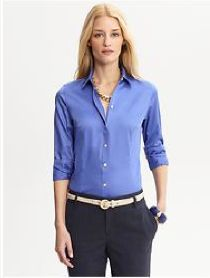 abb27b0b6 For women, a button-down shirt and pants works well in a business casual  environment.