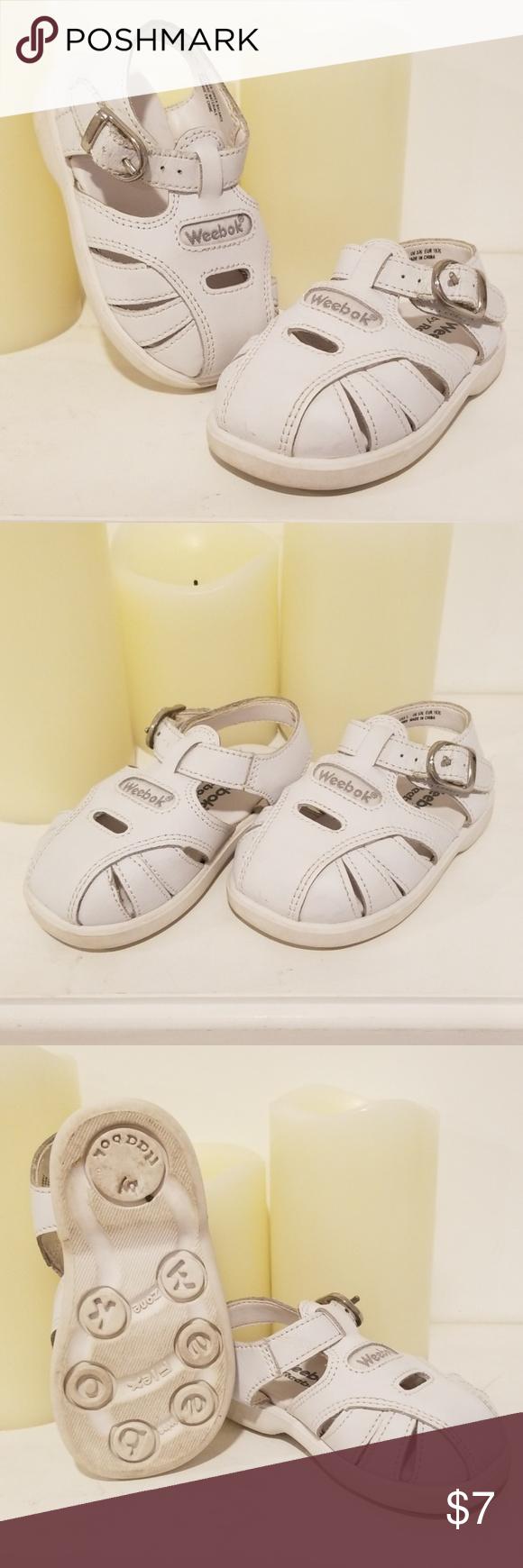 Reebok White Baby Girl Sandals Size