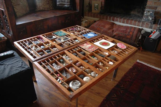 Tablescapes Built In Cubbies Turn This Coffee Table Into A Horizontal Display Case Photo By Ne With Images Display Coffee Table Decorating Coffee Tables Diy Coffee Table