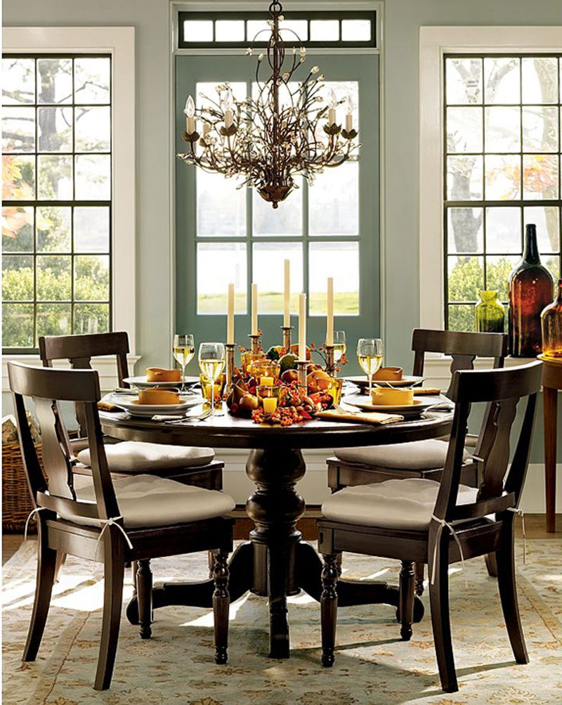 espresso/black table chairs w/ chair pads | Beautiful ...