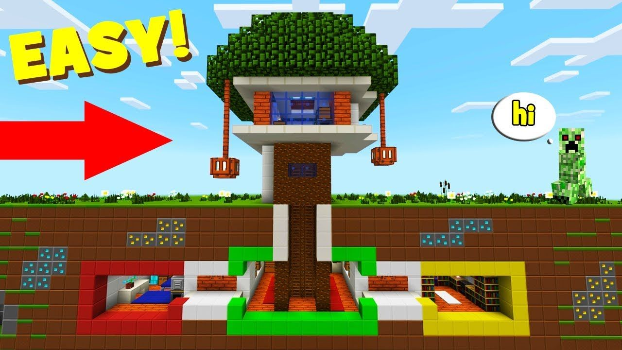 Minecraft Tutorial How To Make A Modern Tree House With