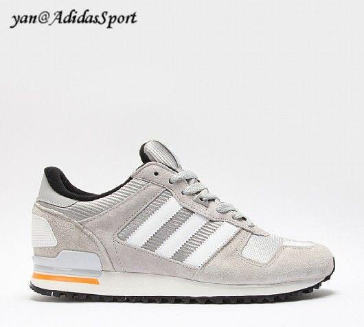 a25cbe75c Hombres Adidas Originals ZX 700 Zapatillas de Hielo Gris
