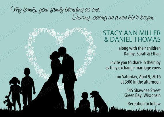 Blended Family Wedding Invitations: Blended Family Wedding Invitation By H20WhiteLacePromises