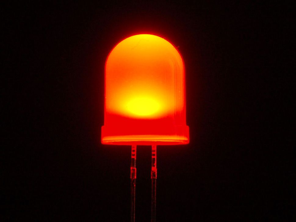 Diffused Red 10mm Led 25 Pack Diffuser Led Diy Electronics