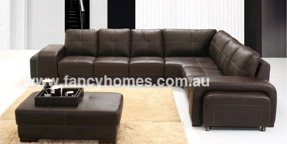 Arthur 6 Seater Italian Leather Sofa Corner Lounge Fancy Homes