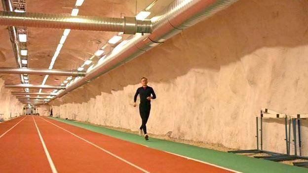 A running track underneath Helsinki in Finland (Credit: City of Helsinki)