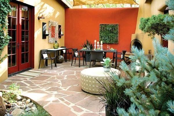 Propuesta De Hoy A Llena Tu Jardan De Color Colorful Patio Patio Garden Wall