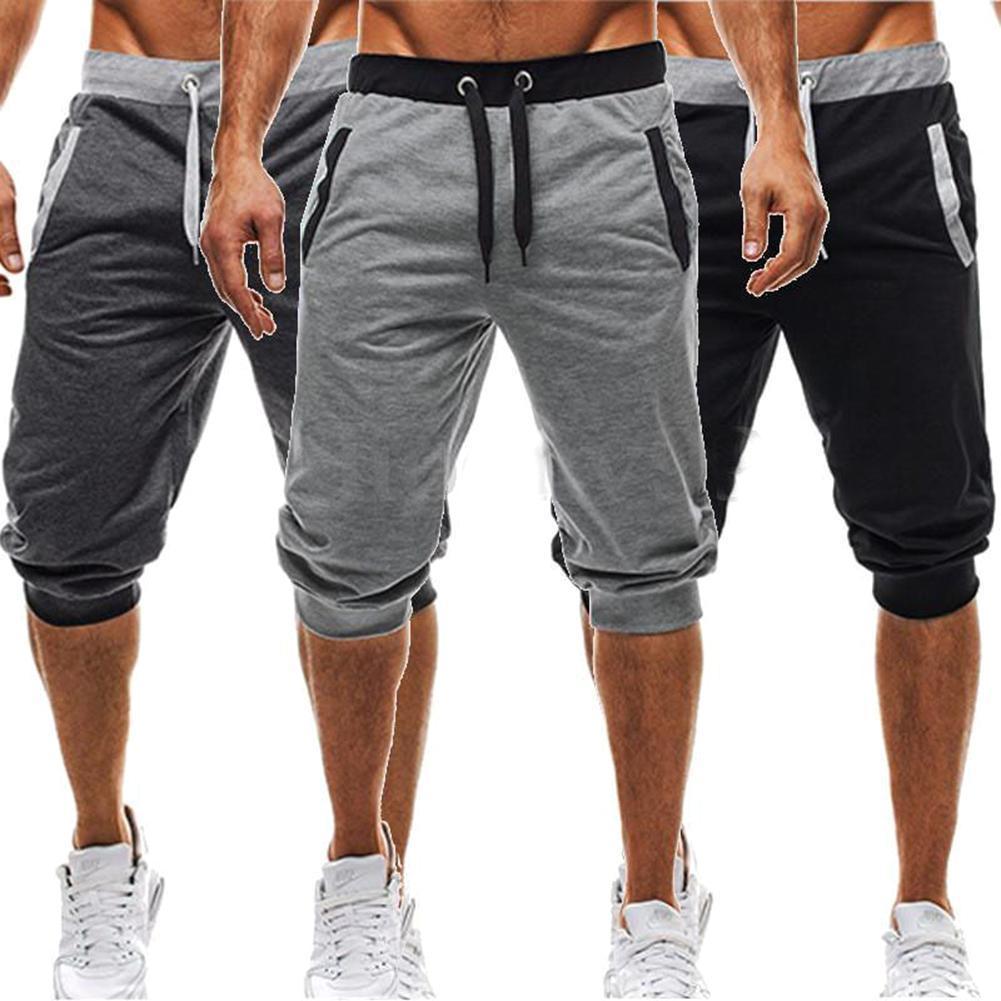 576107c492e £8.48 GBP - Men 3 4 Knee Length Casual Jogger Sport Shorts Baggy Gym Harem  Pants Trouser Pop  ebay  Fashion