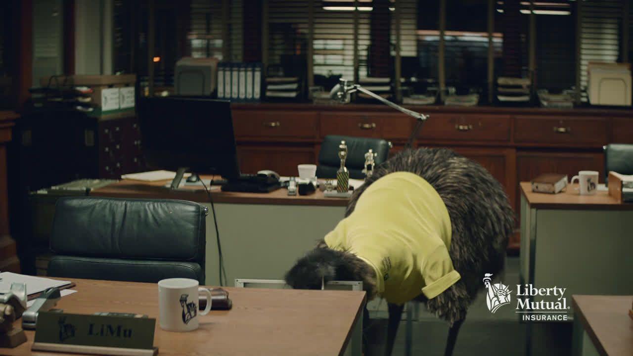Liberty mutual insurance limu emu doug the board ad