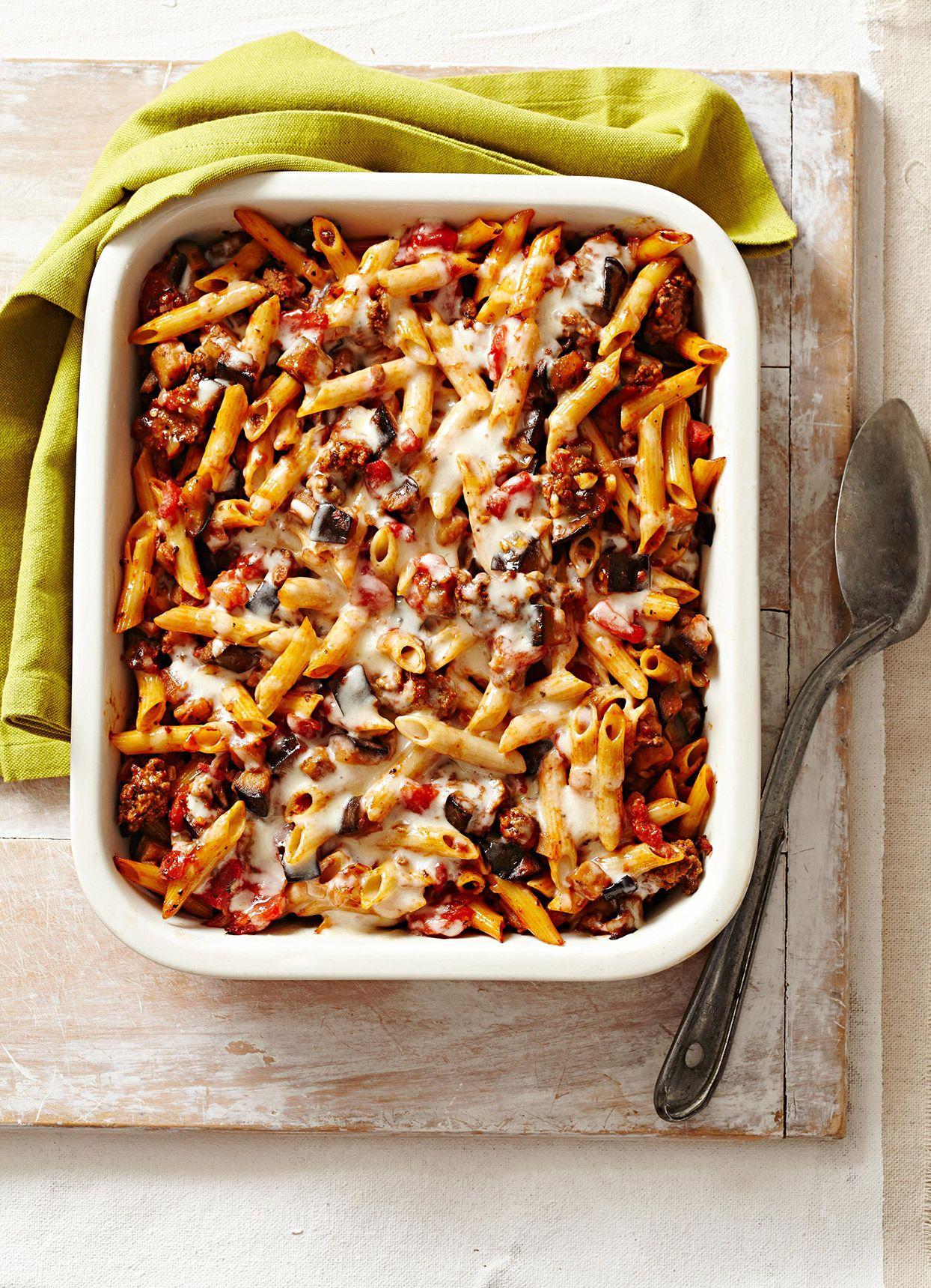 Eggplant Beef Pasta Bake Recipe In 2020 Ground Beef Recipes Healthy Healthy Ground Beef Beef Recipes