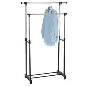 Target Clothes Hangers Endearing Extendable Double Garment Rack  Garment Racks Steel Racks And Target Review