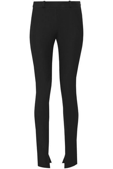 Roland Mouret Woman Mortimer Stretch-cotton Skinny Pants Black Size 12 Roland Mouret HmBEUFZfs