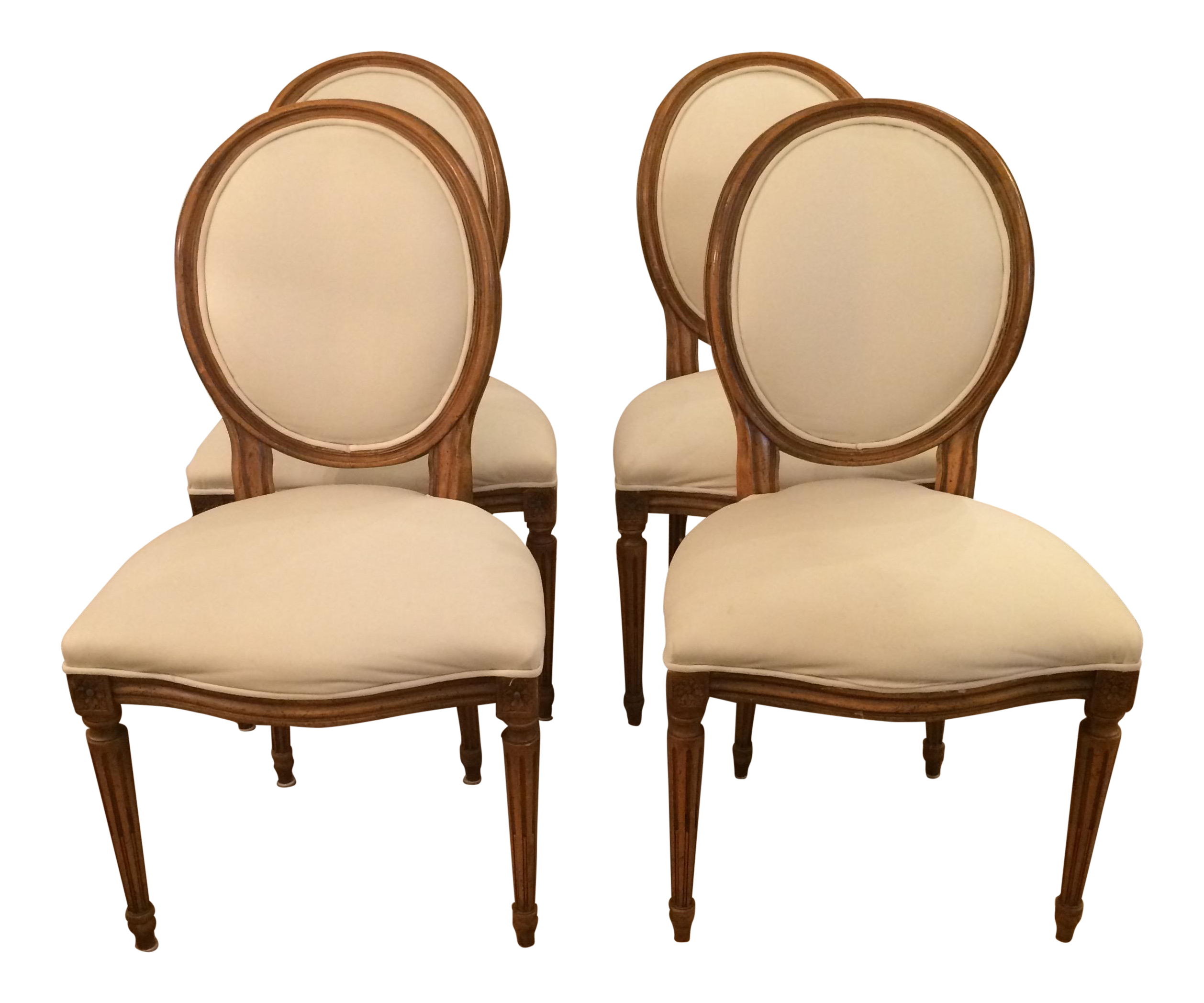 French Style Dining Chairs By Baker Set Of 4 On Chairish