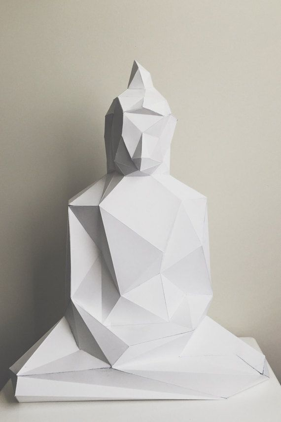 Buddha Papercraft Model Diy Template Paper Crafts Useful Origami Origami Lamp