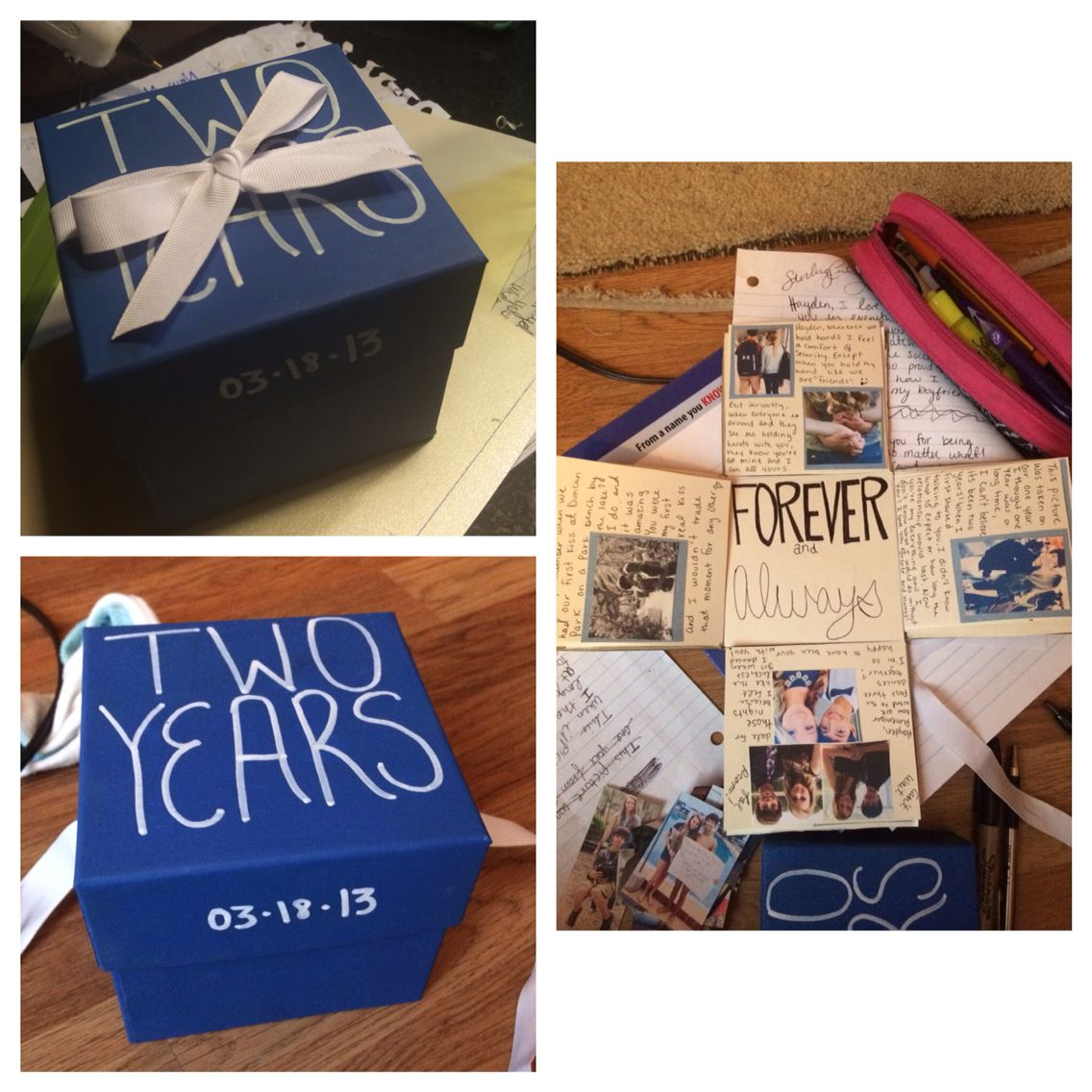 anniversary box. for my boyfriend and i's 2 year i made different