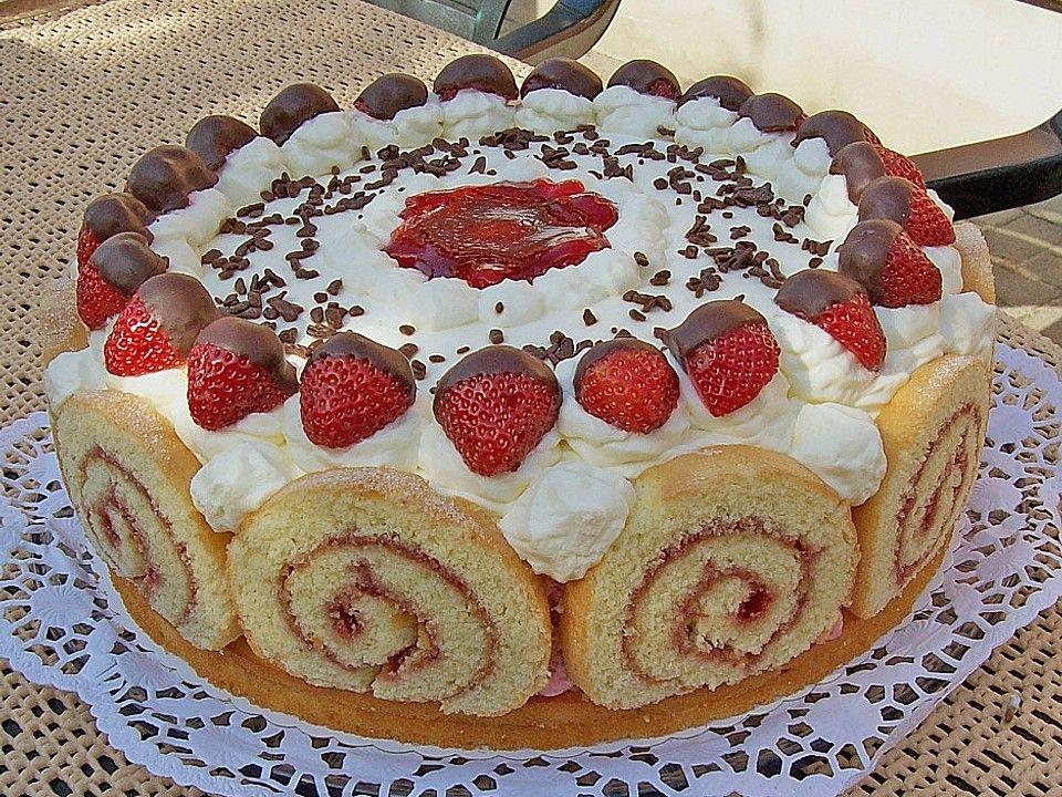 Erdbeer - Schmand - Torte von jienniasy | Chefkoch