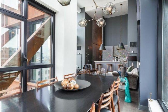 Apartment Einrichtung modernes apartment einrichtung essbereich kronleuchter rauchglas