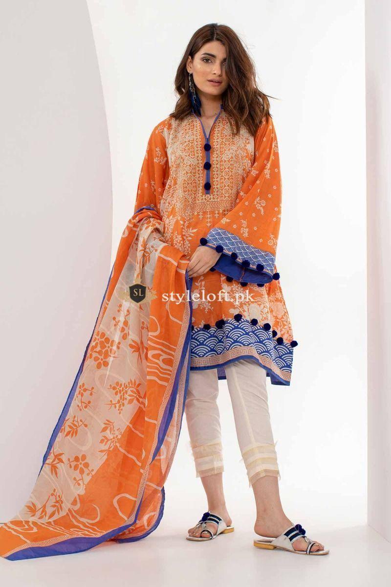 abf9d8bfb8 Khaadi Spring Summer Collection 2019 3pc Lawn Suit M18103 #pakistanidresses  #shoppingandfashion #instafashion #girlsfashion #pakistaniclothes #fashion  ...