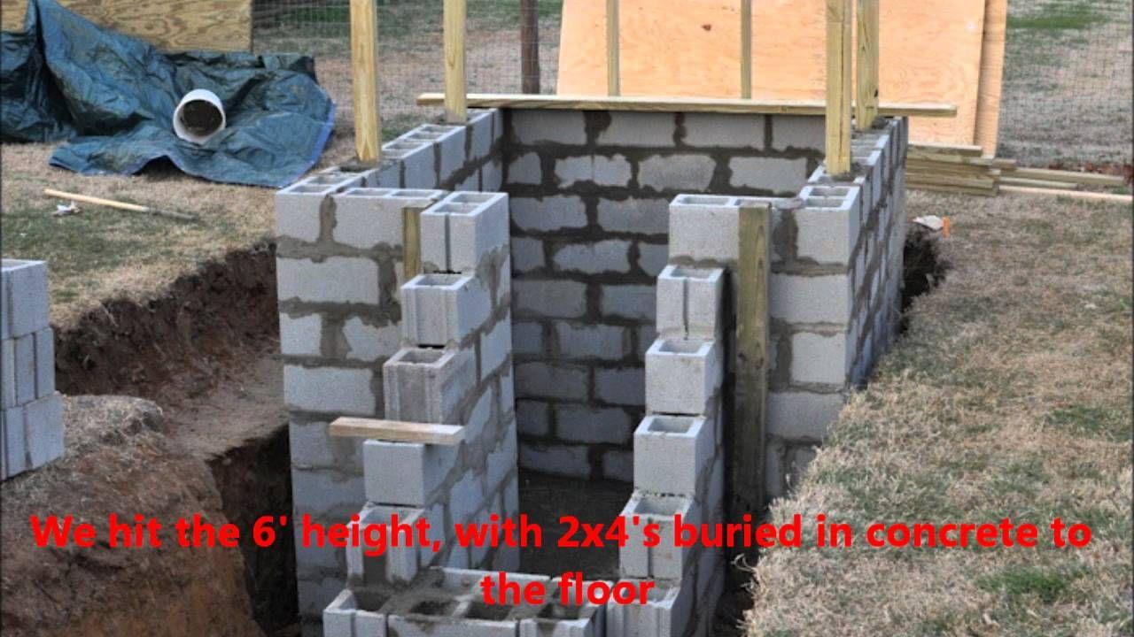 Homemade storm shelter via youtube diy construction