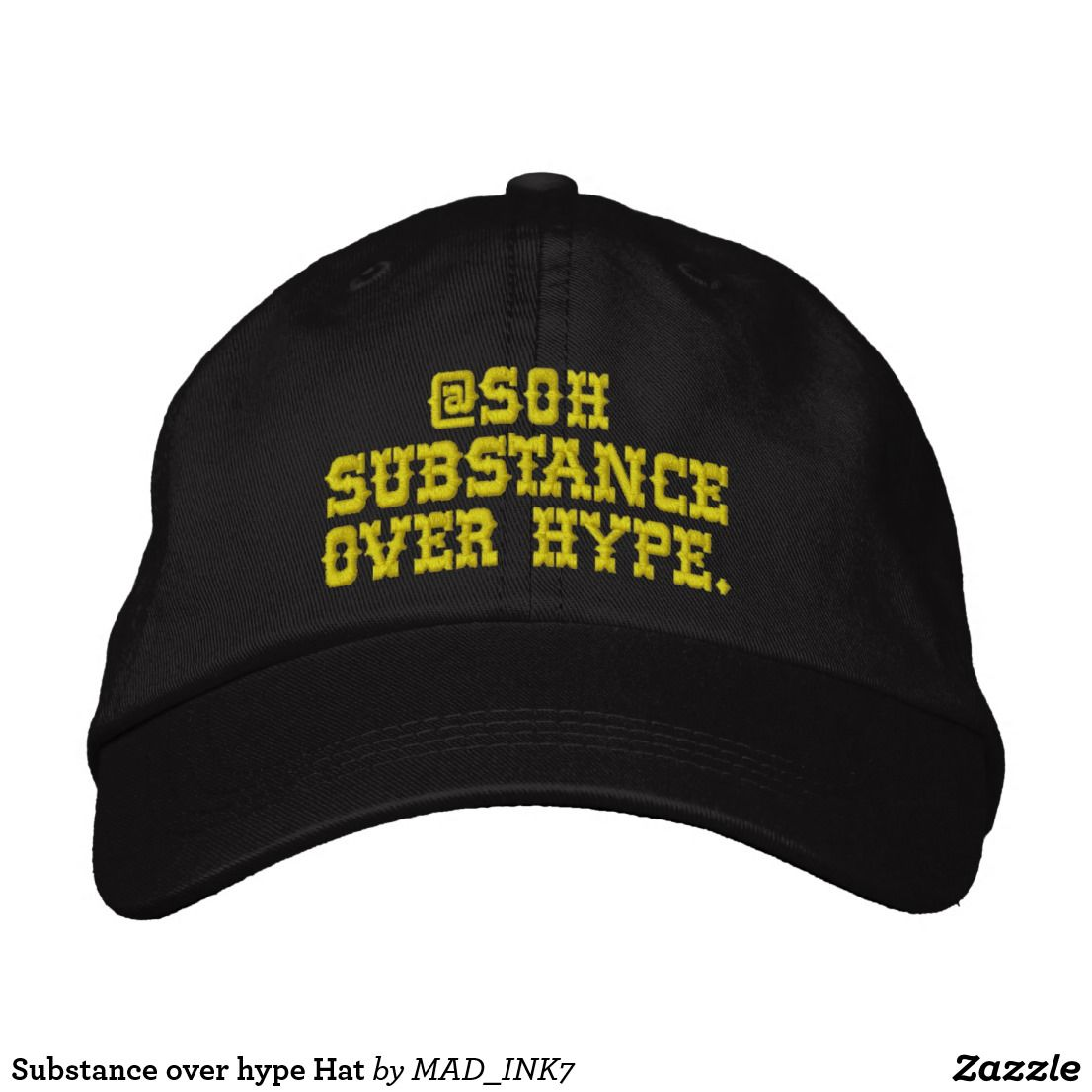 Substance over hype Hat. Substance over hype Hat Embroidered Baseball ... 2752cdf2294d