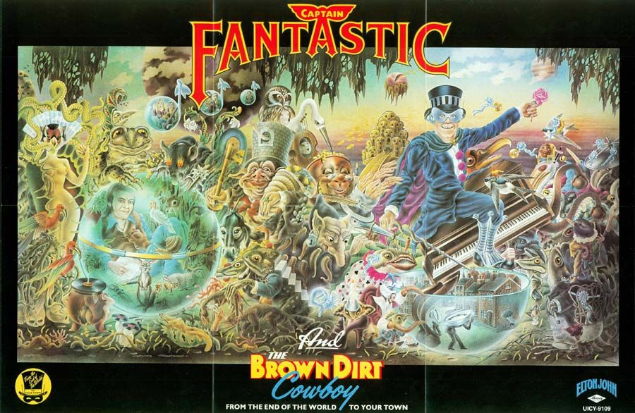 Elton John Poster Of The Lp Quot Captain Fantastic And The
