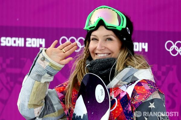 American snowboarder Jamie Anderson took gold in ...