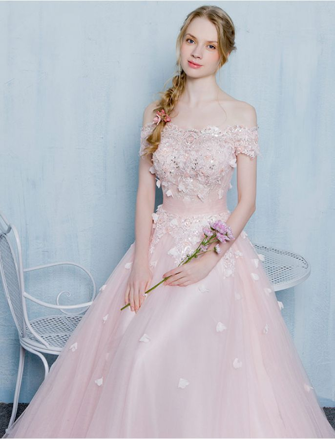 Vintage Inspired Off Shoulder Erfly Lace Prom Wedding Dress