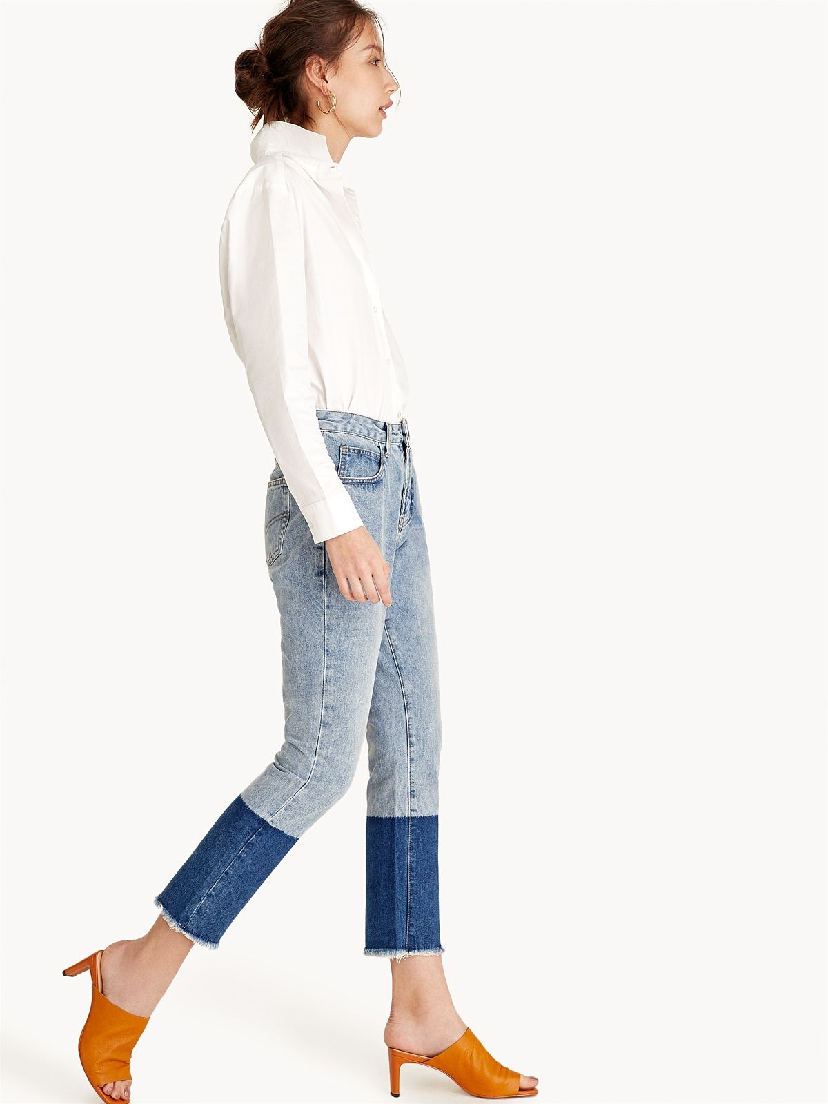 1aaf50e3a43 Cotton Features a frayed hem Five pocket construction Includes a button and  zipper closure - Shop the latest fashion at POMELO fashion.