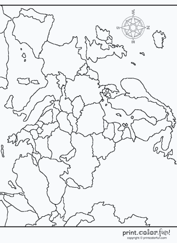 Map Of Europe Printable Europe Map Printable Europe Map Coloring Pages