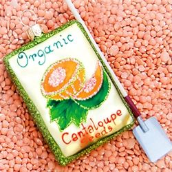 Seed Packet Cantaloupe Ornament
