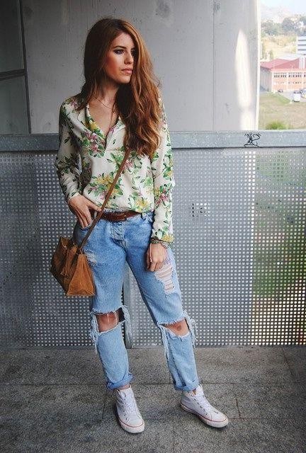 0c49d3f538 How To Wear Boyfriend Jeans (Outfit Ideas) 2019