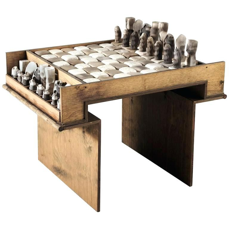 Chess Coffee Table Set