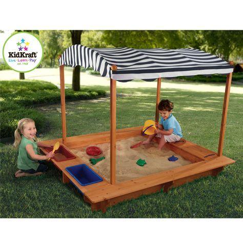Luxury Mit der Kidkraft Gartensandkiste mit Sonnendach k nnen Kinder in Ihrem Garten nach Sch tzen suchen und nach herzens Lust Sandburgen bauen