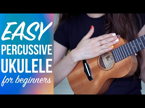 (14) Easy PERCUSSIVE UKULELE for beginners. How to strum