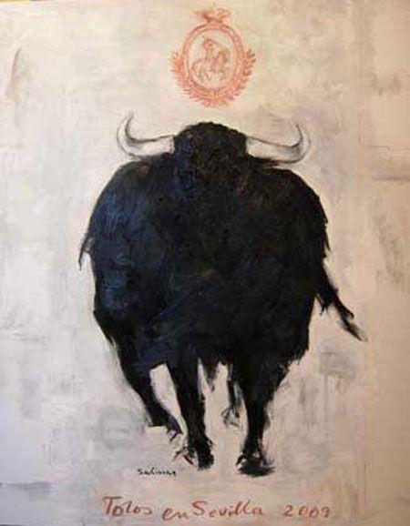 toros en sevilla 2009 poster