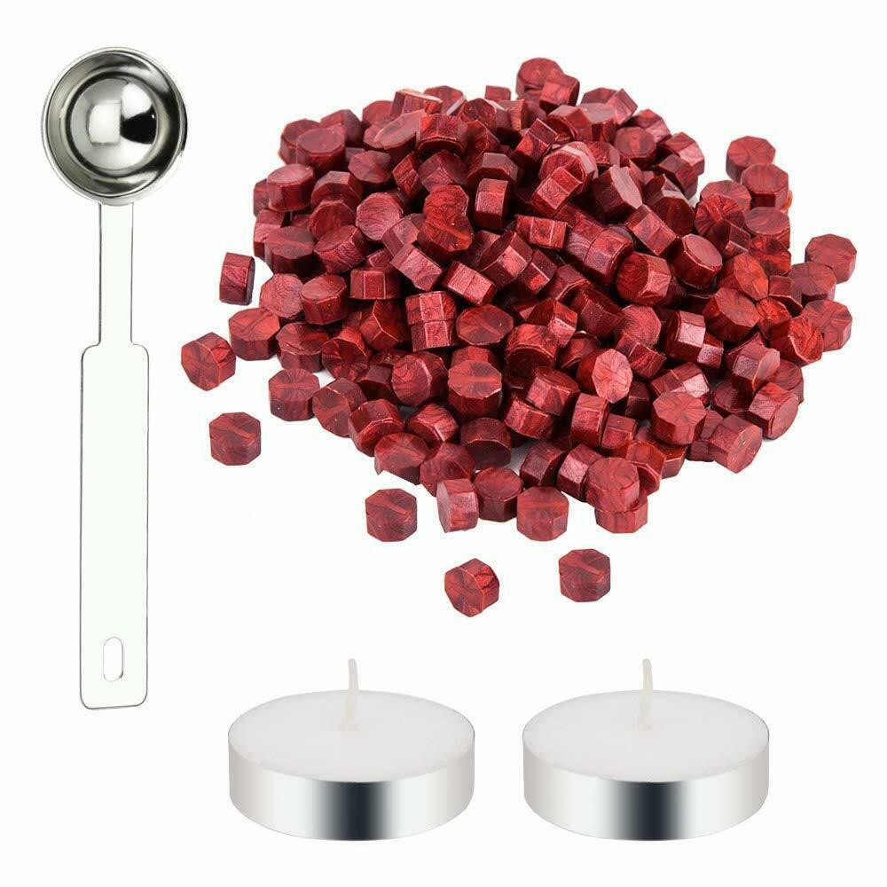 Details about decareta 200 pieces sealing wax beads red