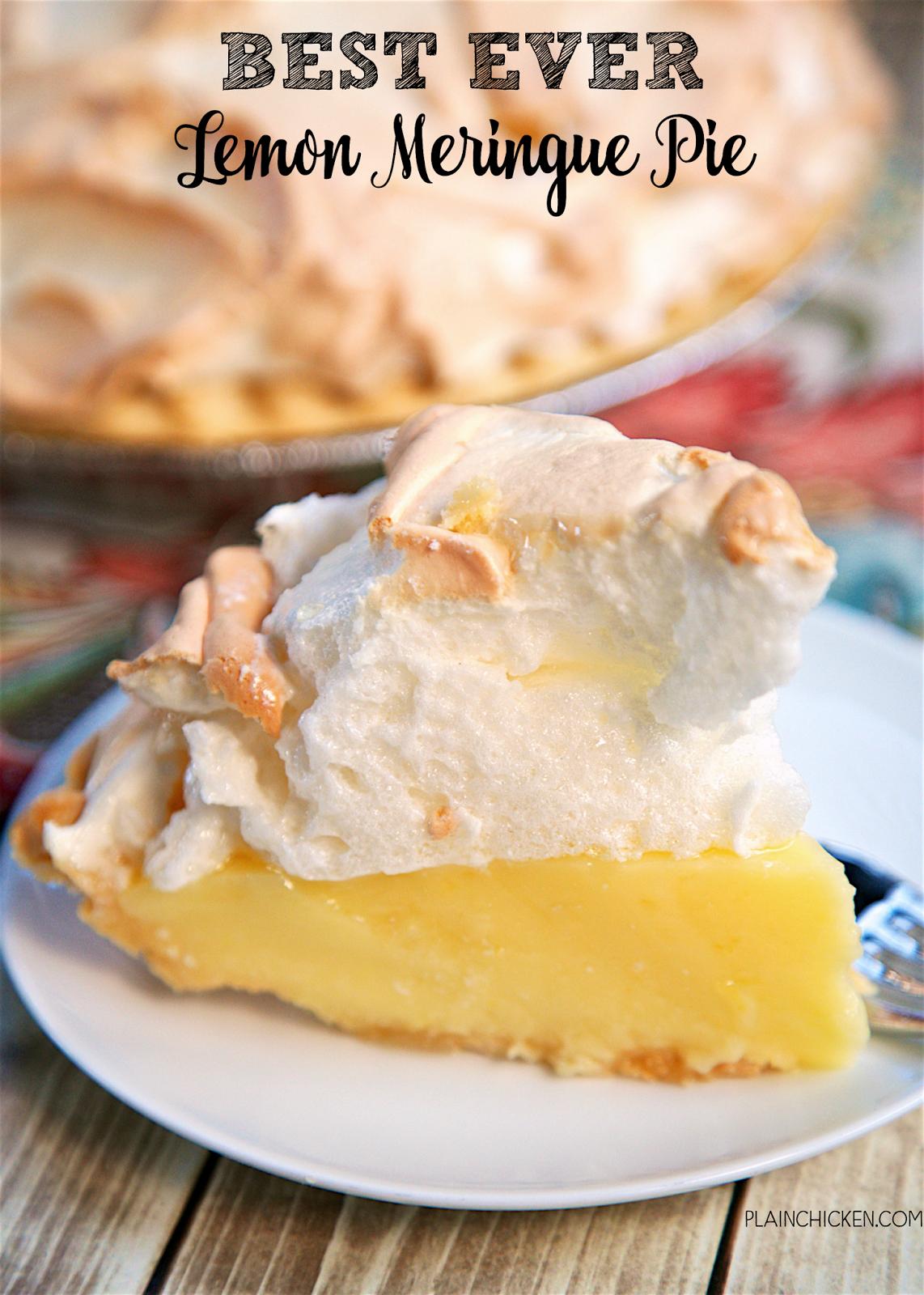 Best Ever Lemon Meringue Pie Homemade Lemon Pie Topped With A Quick Homemade Lemon Meringue Pie Easy Best Lemon Meringue Pie Meringue Pie Recipes