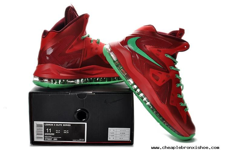 c718580f28b1ce 2013 Nike Lebron X PS Elite Series Crimson New Green 579827 283. Nike  Basketball ShoesNike ...