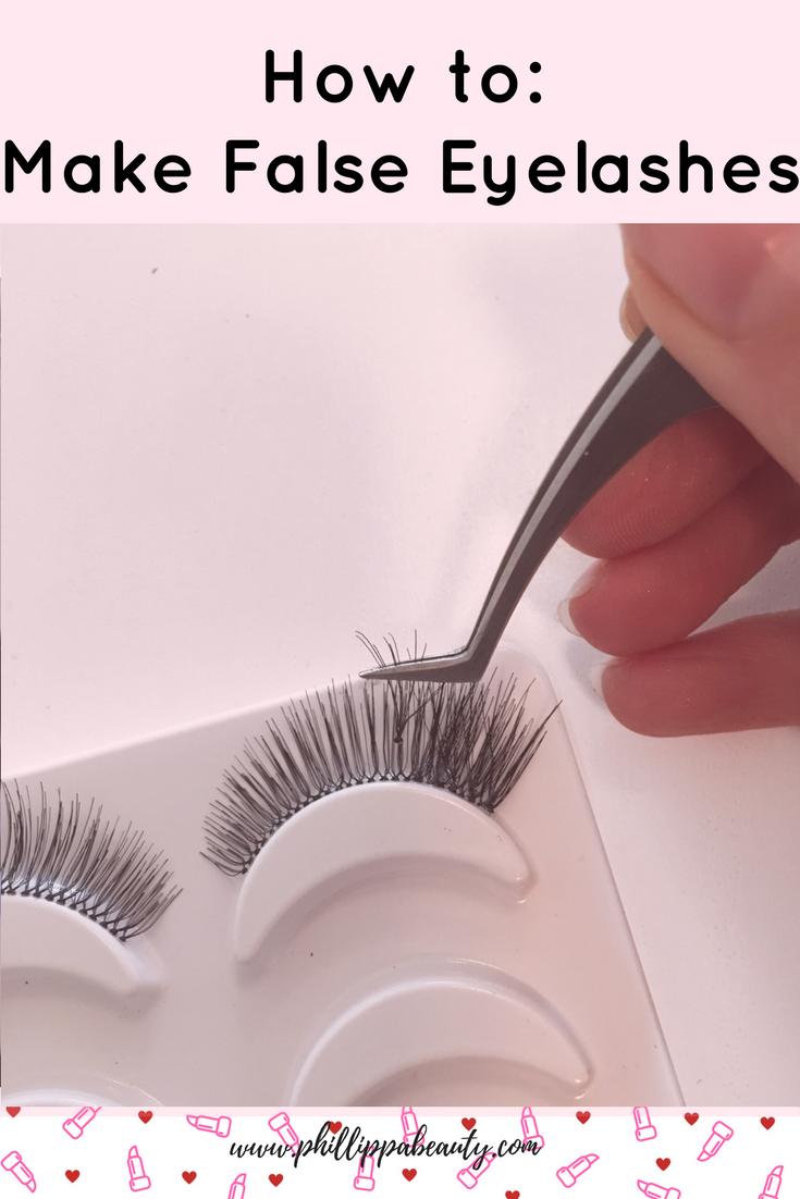 How To Make Your Own False Lashes Fake Lashes Eyelashes Lash