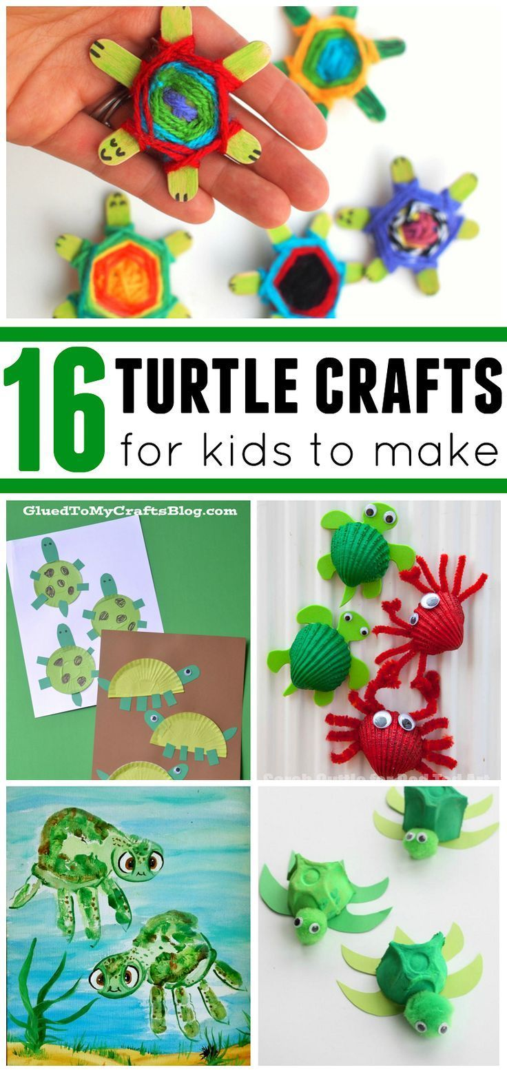 Cute turtle crafts for the kids to make! Great for ocean and beach ...