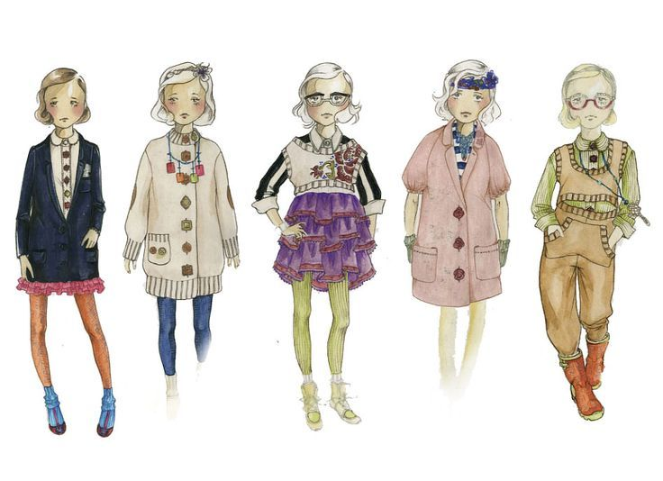 childrens fashion sketches google search - Kids Sketches