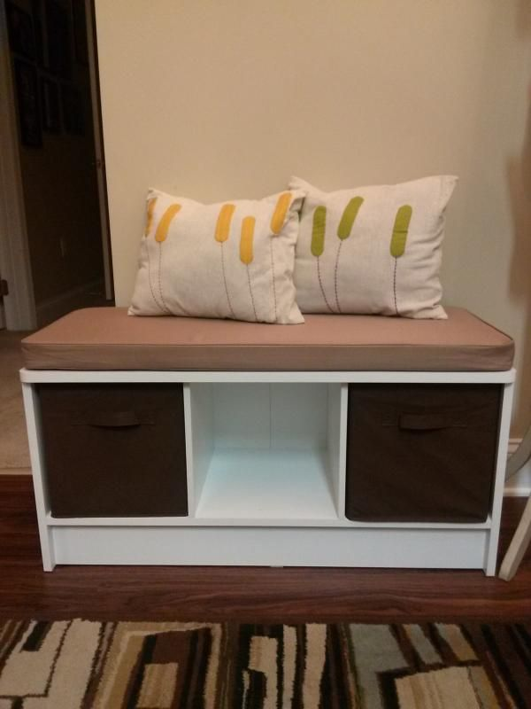 Brilliant Storage Bench 3 Cubicles White Closetmaid Ideas For The Machost Co Dining Chair Design Ideas Machostcouk