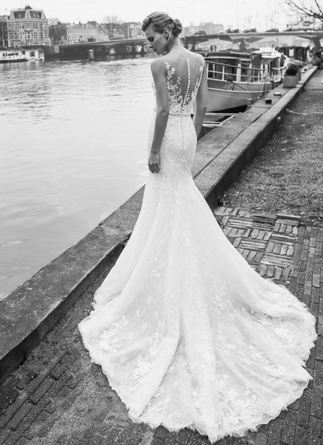 Amsterdam Lace Wedding Gown By Modeca Timelessbridecouk