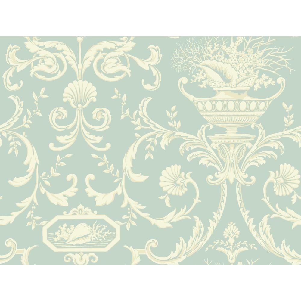 BA4598 CASABELLA II - York Wallcoverings BA4598 Casabella II Neoclassic Shells Wallpaper - GoingDecor