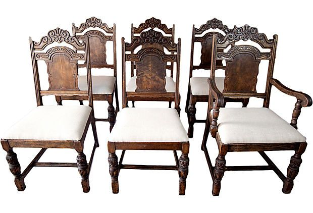 1920s Carved Spanish Dining Chairs, S/6 on OneKingsLane ...