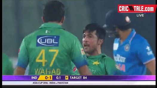 Watch the video «Asia Cricket Cup - Amir Two Wickets in First Over Against India» uploaded by Golden Eagle on Dailymotion.